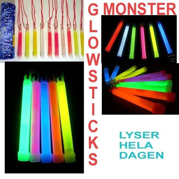 10st Stora RÖDA Glowsticks